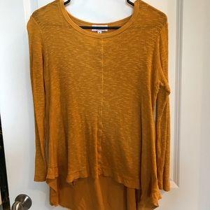 Long sleeve asymmetrical blouse